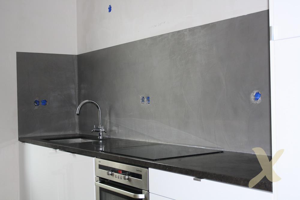 Beton in keuken. stunning staal beton en houten keuken gelakte